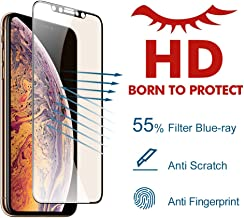 PERFECTSIGHT HD Clear Screen Protector for Apple iPhone 11 Pro Max 2019, iPhone Xs Max 2018 6.5 inch, [Eye Care] 55% Anti Blue Light Filter Anti Fingerprint Tempered Glass