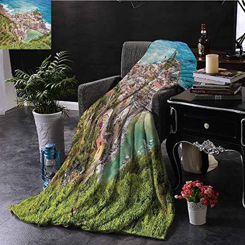 GGACEN bank deken twee stoelen in de buurt van Caribische Zee onder kleurrijke paraplu bruiloft vieringen foto comfortabel zacht materiaal, geven u een geweldige slaap
