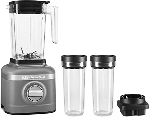high quality KitchenAid KSB1332DG 48oz, 3 Speed Ice Crushing Blender with 2 x 16oz new arrival Personal Jars to Blend and Go, Matte Charcoal wholesale Grey online
