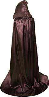 Unisex Hooded Cloak Coat Witch Robe Cape Long Halloween Cosplay Party Cloak 59 inch
