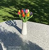 MomoMoments 2 Hochwertige Tulpensträuße aus Holz für die Liebste, 2X 9 Kunsttulpen handbemalt, 21 cm hoch, Blumenstrauss, Dekoration, Muttertagsgeschenk, Made in Holland - 6