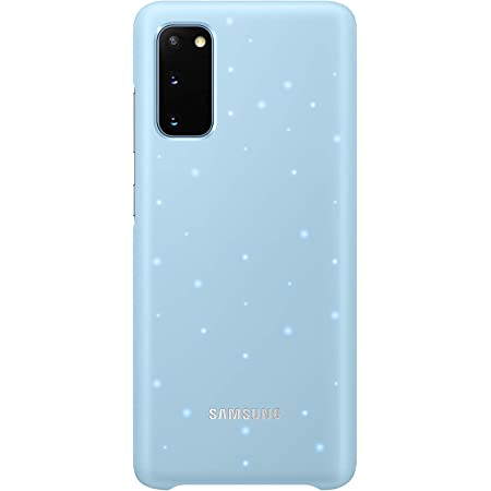 Samsung Galaxy S20 Case, Protective Smart LED Back Cover - Blue (US Version with Warranty) (EF-KG980CLEGUS)