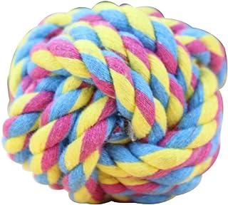 波波 狗玩具宠物玩具狗狗磨牙玩具 耐咬棉绳结球 金毛泰迪玩具训练洁齿 棉绳三结加球