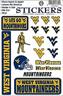 West West Virginia Mountaineers Vinyl Cling Stickers 18 Removeable Decals NCAA Licensed