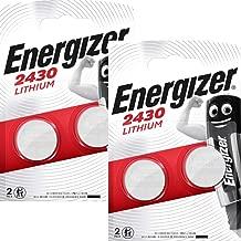 Energizer CR2430 Lot de 4 piles Lithium 3 V