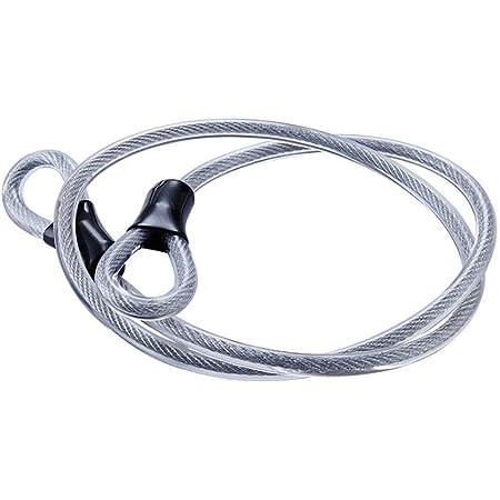 Câble de sécurité en acier inoxydable, câble en acier tressé à double boucle, câble de verrouillage flexible, cadenas en U de 3/8 pouce, cadenas, câble métallique transparent avec anneau,