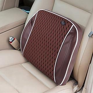 Accesorios de Muebles Familia de Masaje Trasero del Coche eléctrico de la vibración de la Cintura de Carga USB Almohada Mat (Caqui) (Color : Brown)