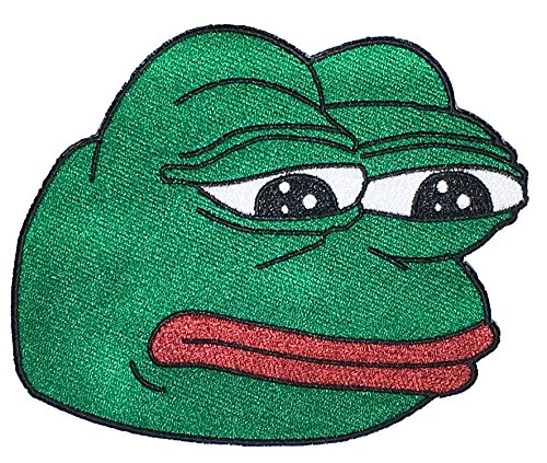 Sad Pepe 4chan Sew on Embroidered Patch- 4 x 5 Inch Sew on Patch - Great for Gifts Or to Mark That Special Occasion