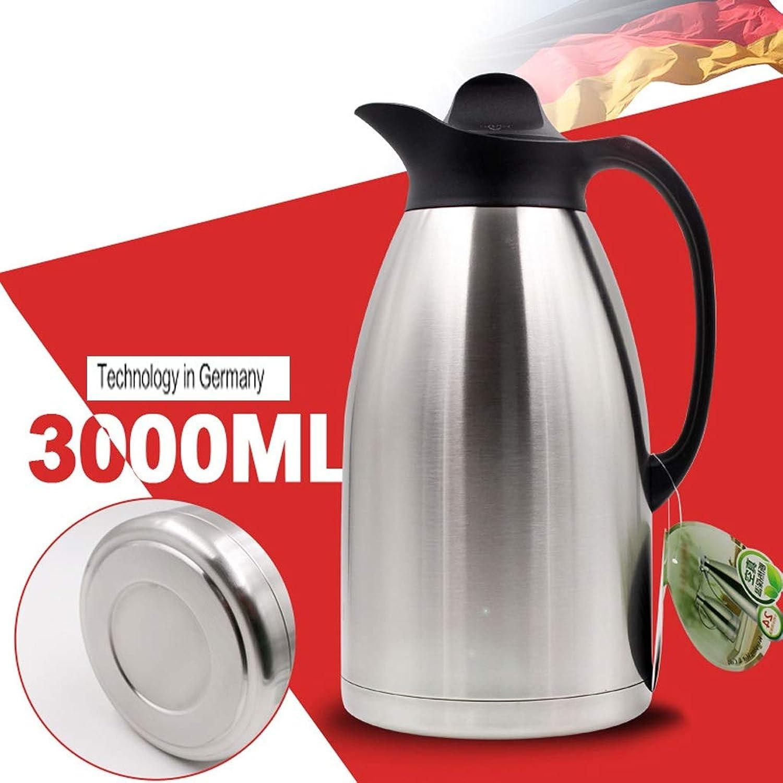 Thermos à la maison Thermos grande capacité Pot 3L Cafetière Isolation sous vide en acier inoxydable