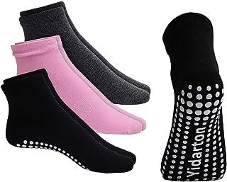 Grip Socks, Non Slip and Non Skid Socks, 3/4/5 Pack, Hospital, Yoga, Barre, Pilates, Maternity, Ballet, Women (Size 6-10)