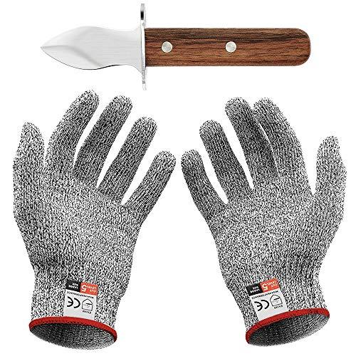 Oyster Coltello Guanti anti-taglio con paio di guanti...