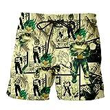 JJZZ Natación Pantalones Cortos Shorts con Estampado 3D de Dragon Ball Shorts de...