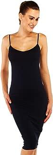 Women's V Neck Full Cami Slips Spaghetti Strap Long Slip Dress