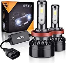 WZTO H11/H9/H8 LED Headlight Bulbs Upgraded CSP Chips,10000LM 6000K Conversion Kit, 360 Degree Adjustable Beam Angle Headlight Bulbs, High/Low Beam Fog Light Bulbs(2 PACK)