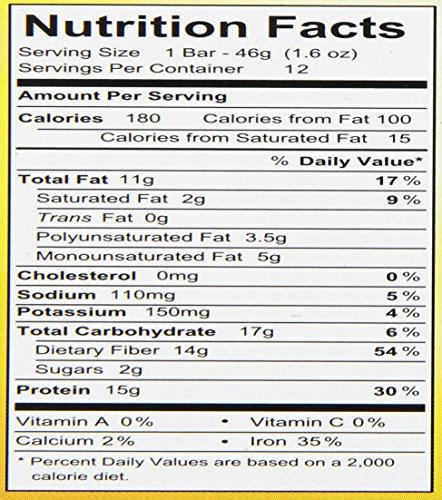 Raw Rev Glo Protein Bars, Creamy Peanut Butter