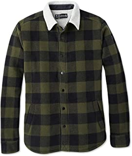 Smartwool Sherpa Lined Shirt Jacket - Men's Merino Wool Anchor Line Fleece Button Down Outerwear