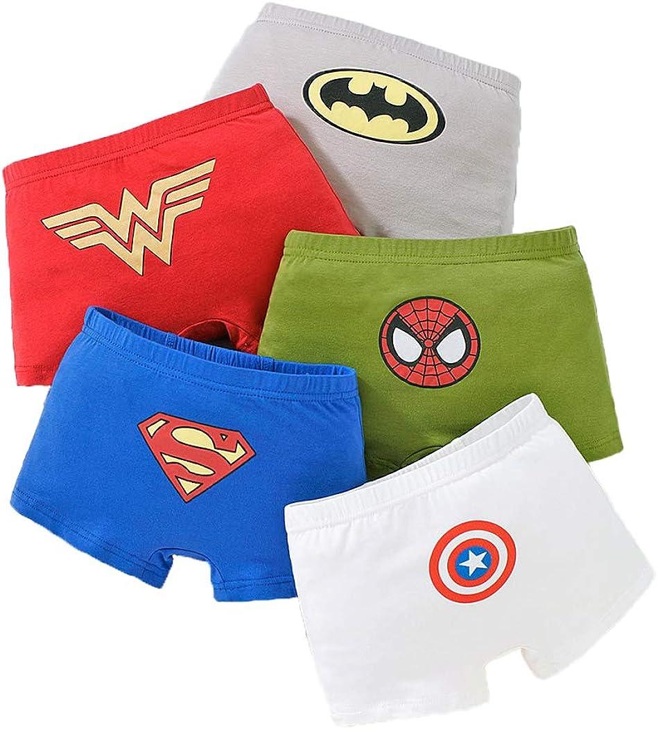 Super sale period limited Shanleaf-Cat Superhero Model Cotton 5-Pack sold out Toddler Underwear Lit