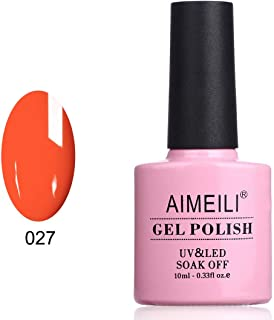 AIMEILI Soak Off UV LED Gel Nail Polish - Orange Sweetie (027) 10ml