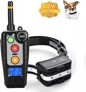 MINCHEDA Collar de adiestramiento de Perros, Control Remoto 500 pies, 100% IP67 Impermeable