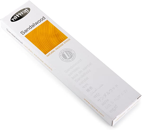 Nitiraj Premium SANDALWOOD Natural Incense Sticks 25 Grams