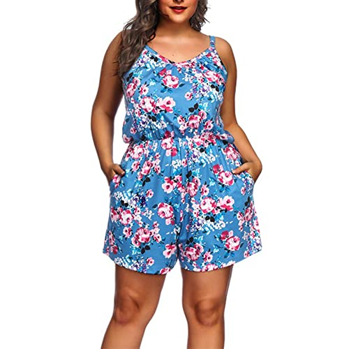 464a3e314e6 Lover-Beauty Ladies Shorts Jumpsuits Plus Size Floral Sleeveless Playsuit
