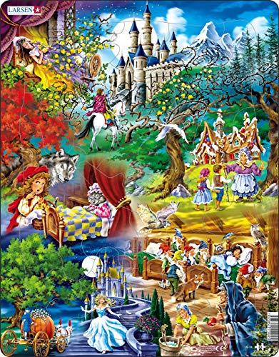 US24 Los Cuentos de Hadas de los Hermanos Grimms, Puzzle de Marco con 33 Piezas