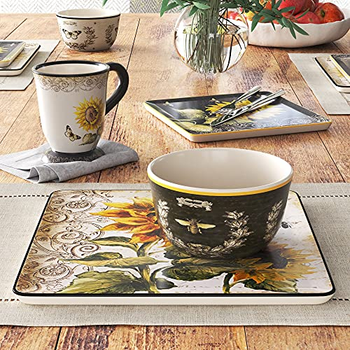 Certified International French Sunflower 16 pc. Dinnerware Set, Service for 4, Multicolored