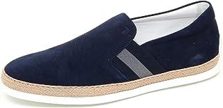8ee05a7be965 F0254 Sneaker Uomo Blu Tod'S Scarpe Suede Rafia Slip on Loafer Shoe Man