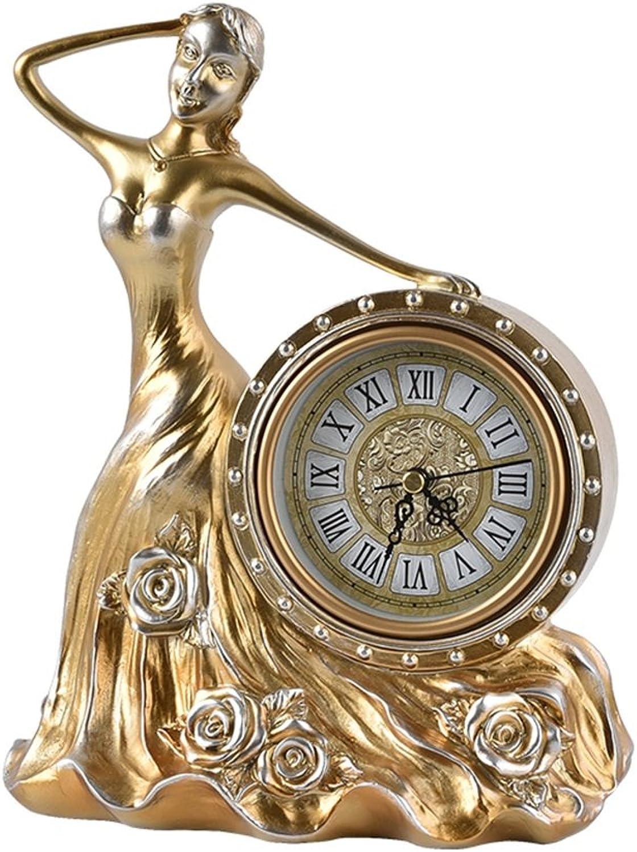 HAOFAY Retro Vintage Classic Desktop Clock, Desktop Desktop Office Decor Desktop Clock and Desktop Clock