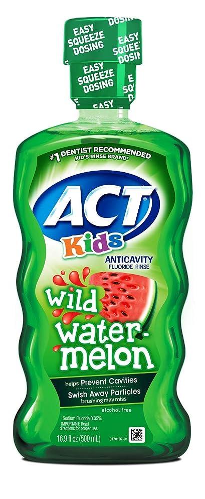ACT Kids Anticavity Fluoride Rinse Wild Watermelon 16.89 Ounce