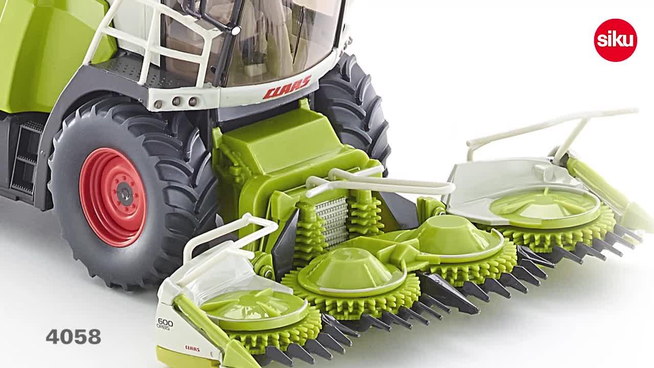 1:32 SIKU 4058 El/éments Mobiles R/écolteuse-Hacheuse Claas Jaguar 960 Vert M/étal//Plastique
