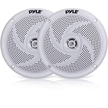 2 Pairs Of Magnadyne WR40W 5 Inch Waterproof Marine Boat /& Hot Tub Dual Cone Audio Stereo Speakers White WR40-W