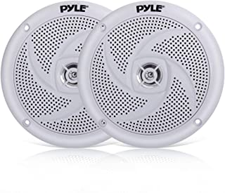 Pyle Marine Speakers - 5.25 Inch 2 Way Waterproof and Weather Resistant Outdoor Audio Stereo Sound System with 180 Watt Po...