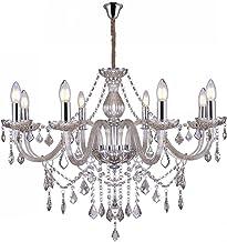 Lustre de Cristal para 8 Lâmpadas E14 Glam Taschibra Conhaque