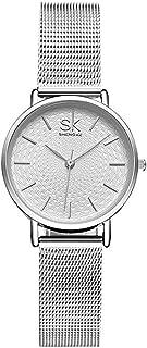 Ladies Watch Stainless Steel Mesh Strap Japan Quartz Movement Waterproof Watches for Women Reloj de Mujer