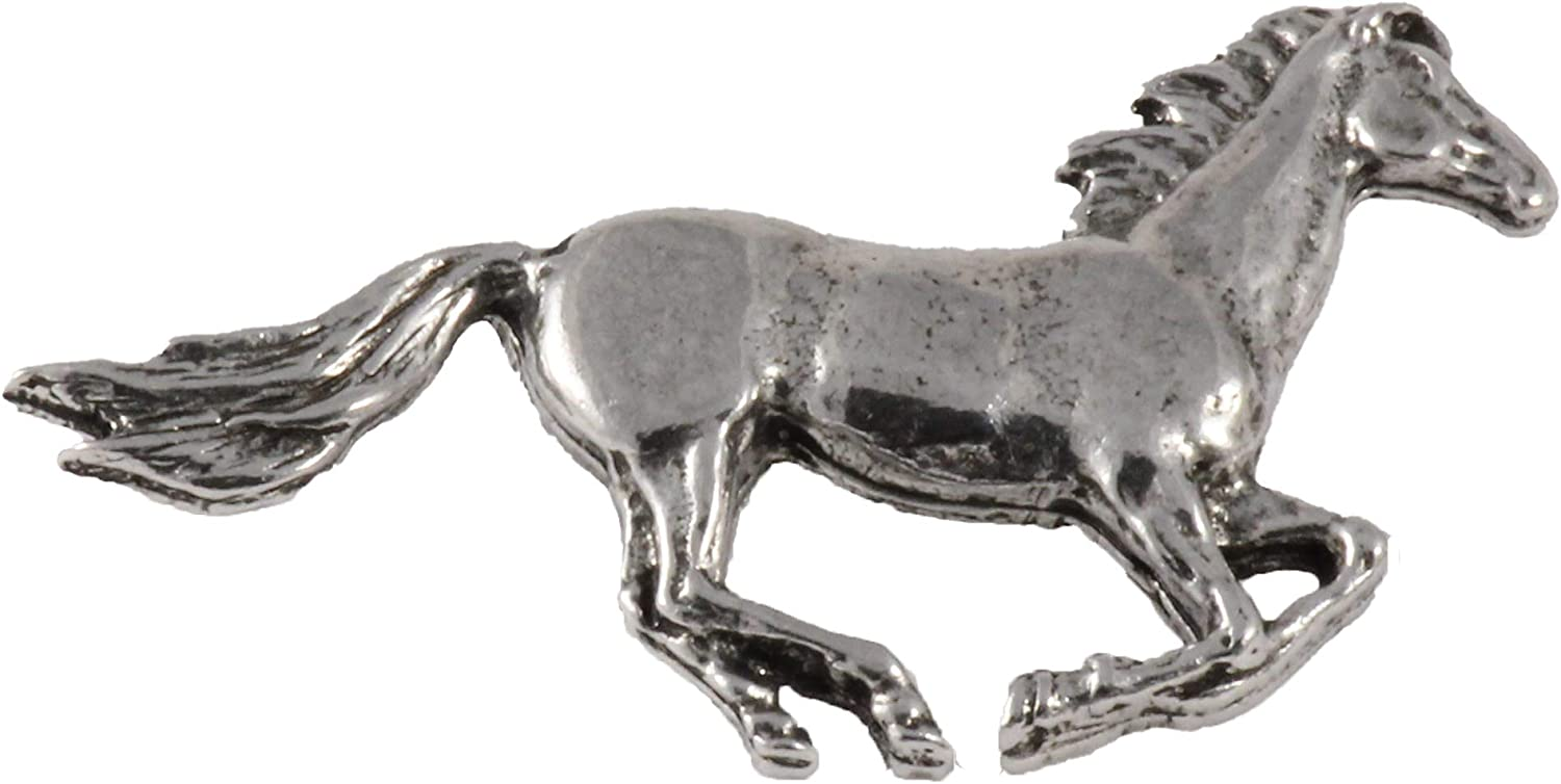 Handcrafted Horse Brooch and Lapel Pins for Equestrians and Riders - Arabian Stallion, Sclydesdale, Bronc, Colt, Mule - Head, Galloping, Jumping, Horseshoe - Pewter, Copper, Gold, Painted