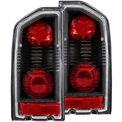 HEADLIGHTSDEPOT Black Housing Tail Light Compatible with Suzuki Sidekick 1989-1998 Includes Left Driver and Right Passenger Side Tail Lights