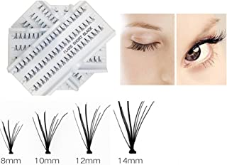 Miss La Mode 240 PCS 4 Pacs 8/10/12/14mm Individual Lashes- Eyelashes Extension- Eyelash Clusters- With Tweezers- Multipack Individual Lashes, Knot-Free Medium, Long- Natural Reusable Eyelashes Z05