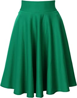 Women's Pink/BlackBlue/White Solid High Waist Trumpet Midi Skirt (10 Colors)