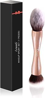 LEUNG Double Ended Makeup Brush, Makeup Powder Foundation Brush, Makeup Brushes for Blending Liquid Foundation, Cream Cosmetics, Blush brush (Rose Gold)