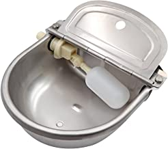 MACGOAL Stainless Steel Automatic Waterer Bowl with Float Valve Water Trough for Livestock Dog Goat Pig Waterer with Drain...