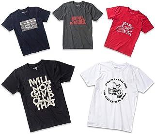 Tシャツ メンズ 半袖 (オーガニックコットン使用) おしゃれ 5枚組 プリント 透けない クルーネック 定番 人気 ランキング