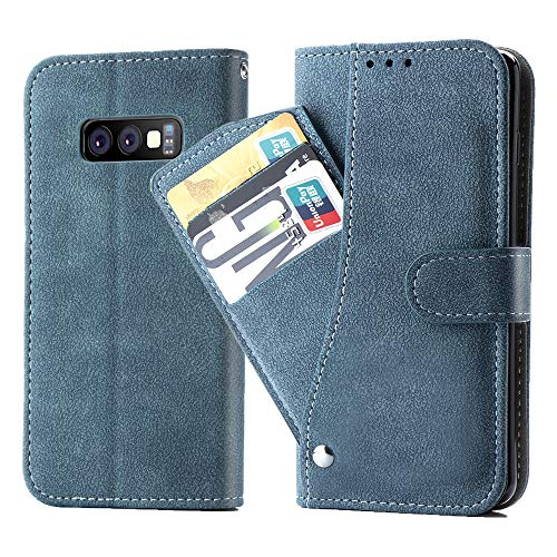 Asuwish Samsung Galaxy S10E Wallet Case,Leather Phone Cases with Credit Card Holder Slot Kickstand Stand Slim Rugged Flip Folio Protective Cover for Samsung Galaxy S 10E GS10E 10SE Girls Men Blue