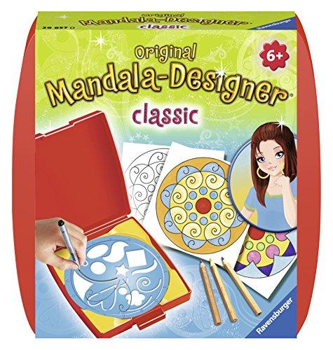 Ravensburger Mandala Designer Mini classic 29857, Zeichnen lernen für Kinder ab 6 Jahren, Kreatives Zeichen-Set mit Mandala-Schablone für farbenfrohe Mandalas