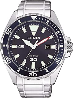 Citizen Mens Solar Powered Watch, Analog Display and Stainless Steel Strap BM7450-81L