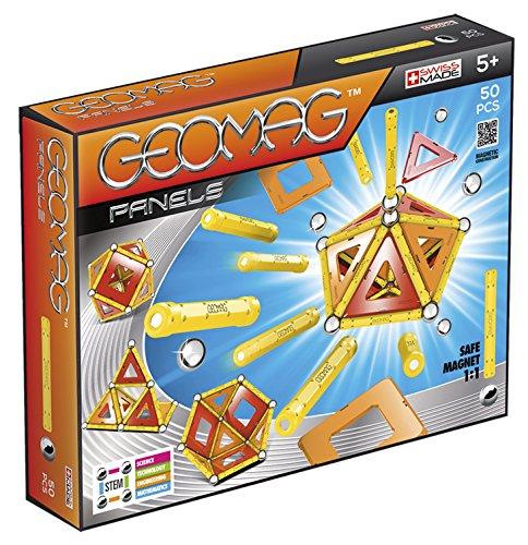 Geomag - Classic 461 Panels, Constructions Magnétiques et Jeux Educatifs, GMP04, Multicolore, 50 Pièces