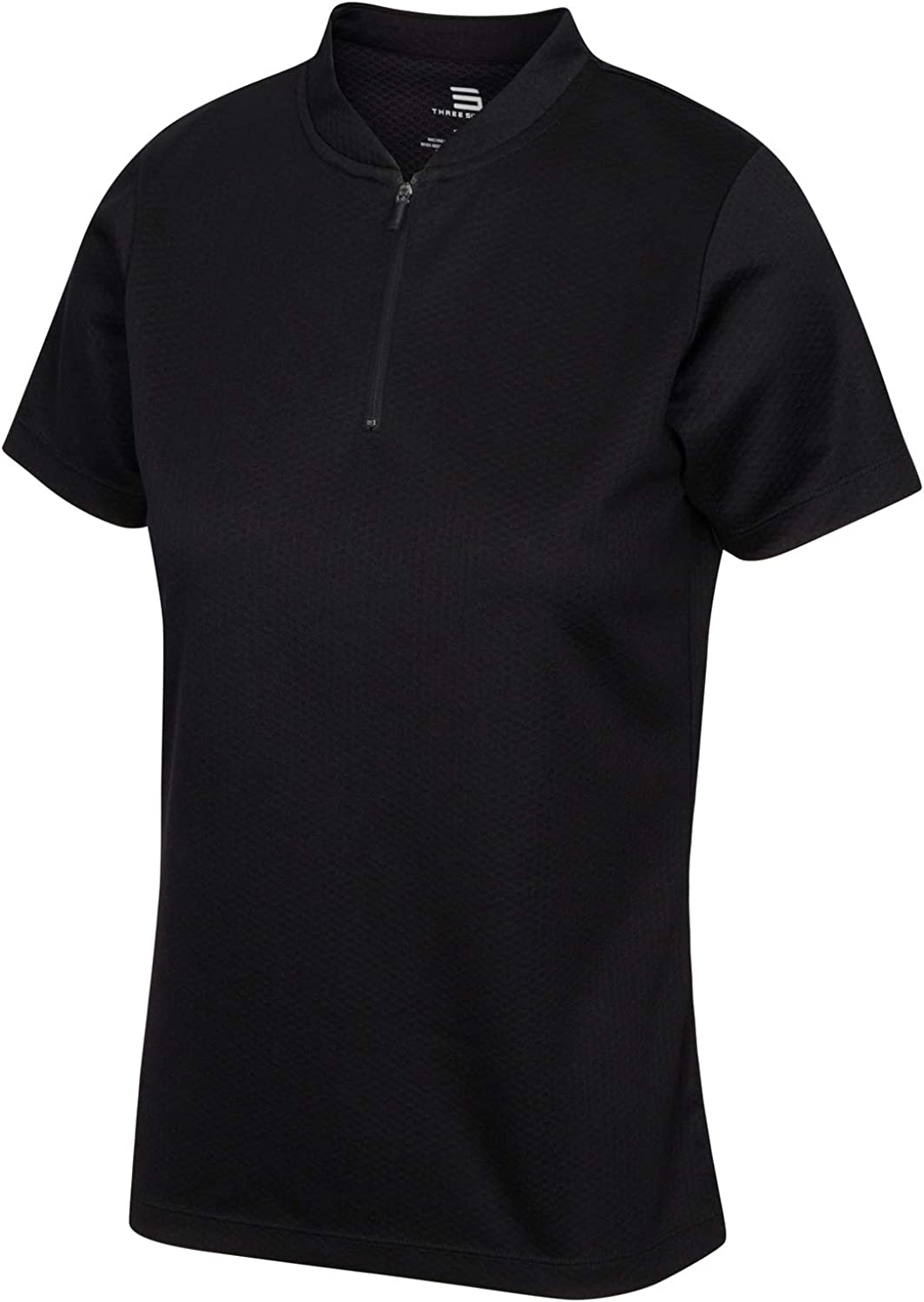 Womens Golf Polo with Zipper Short and Sleeve security favorite - Collarless