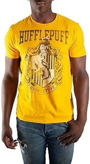 Hufflepuff House Crest Mens Yellow Hogwarts T-Shirt