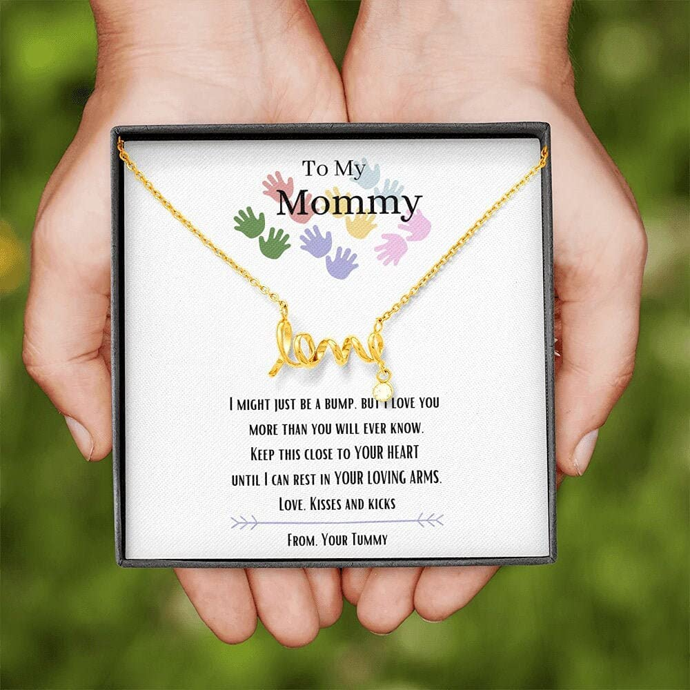 Personalized Pendent Necklace, 23 Pendent Necklace ,Love Pendant Necklace, To My Mommy, I Love You, New Mommy Necklace, Baby Bump Gift, New Mom Gift From Husband, Mommy Gift