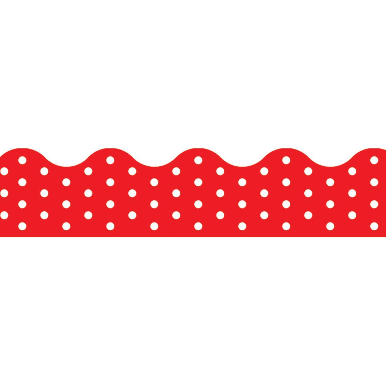 TREND enterprises Inc. T-92663BN Polka Terrific Trimme sale Dots Daily bargain sale Red